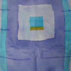 Håndmalet silke